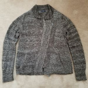 GAP marled soft heather Zip up sweater w/ Pockets